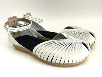 STRAP sandals #natural leather #受注製作の画像