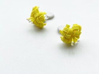 水引花 黄色 イヤリングの画像