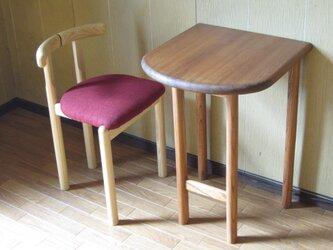■tocoテーブル■ W448xD440xH625  *椅子は付いていませんの画像