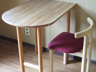 ■tocoテーブル■ W695xD500xH700  *椅子は付いていませんの画像