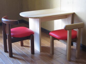 ■OKOテーブル■ W505xD350xH374 *椅子は付いていませんの画像