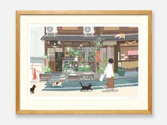 イラストフレーム(43.京都の花屋)の画像