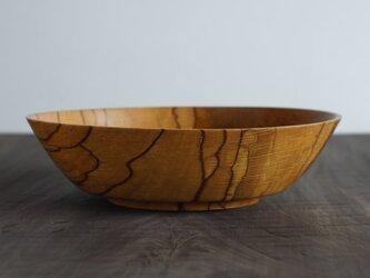 パン盛大皿オイル仕上げ カシ 28cm x 7.5cmの画像
