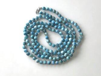 青いネックレス No.2【受注制作】/フロストブルーアパタイト, 天然石の画像