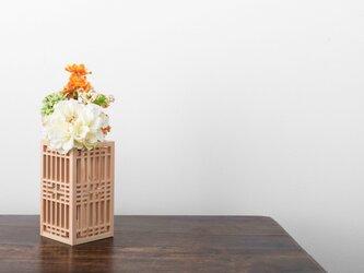 花瓶カバー 組子細工インテリアの画像