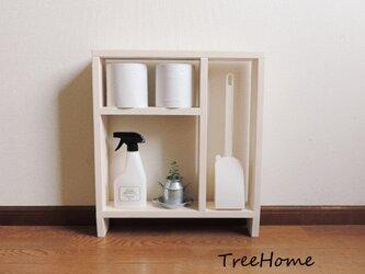 『Iibee-ホワイト』 トイレ収納 トイレラック 収納棚  棚  シェルフの画像