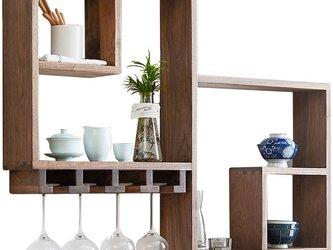 受注生産 職人手作り 壁掛けシェルフ 見せる収納 木製 木目 木工 天然木 無垢材 ウォールナット エコ LR2018の画像