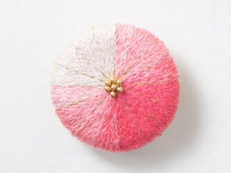 菊ブローチ 海棠の画像
