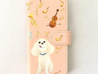手帳型iPhoneケース iPhone7, 8,新SE用 トイプードルの画像