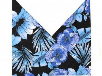 ハワイアンファブリック あづま袋 ハイビスカス柄 ブルー[mha-192s60]の画像