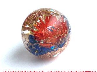 訳あり✳︎豊かな富をもたらすシュリヤントラ 渦ケオン 浄化 恋愛 幸運 幸運メモリーオイル 球形 オルゴナイトの画像