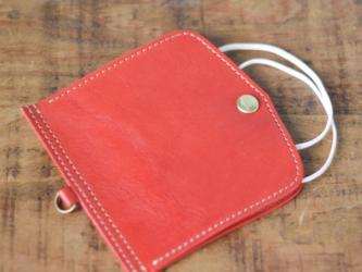 【携帯できる】レザー マスクケース マスクカバー 全7色 レッド 赤 栃木レザーの画像