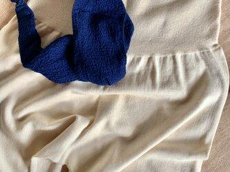 夏のお勧めセット【Organic Cotton腹巻付き温かパンツ+ 藍染ちりめんターバン】の画像