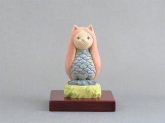 木彫り アマビエ猫 猫仏2009の画像