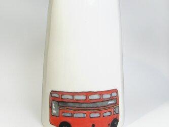 イギリス作家の手作り花瓶「ロンドンバス」の画像