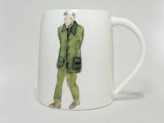 イギリス作家の手作りカップ「男性」の画像