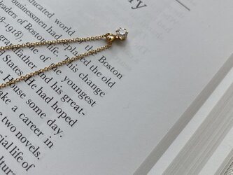 14kgf Round CZ necklace 45cm ラウンドブリリアントの画像