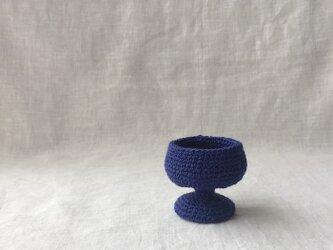 knit glass /ブルーの画像