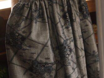 正絹紬反物からギャザーワンピースの画像