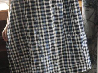 M様専用久留米絣スタンドネックワンピースの画像