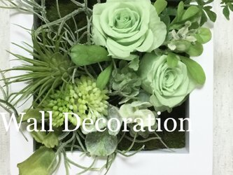 Green  rose  Wall  deco Aの画像