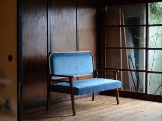 Blue / Modern 2P Sofaの画像