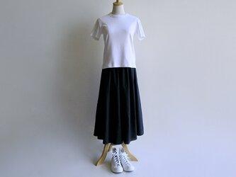 国産コットン*紺色のキュロットスカート(キャンブリック生地)受注製作*送料無料の画像