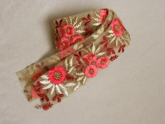 インド製刺繍リボン 7587の画像