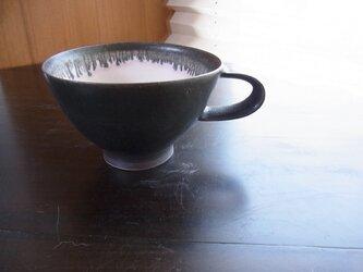 黒マット丸マグカップの画像