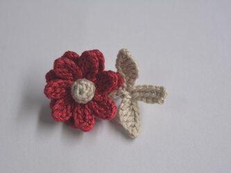 お花ブローチ・赤の画像