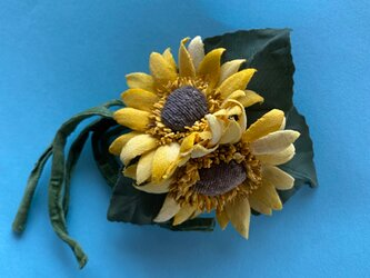 布花 Wild Sunflower corsage Aの画像