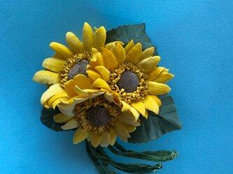 布花 Wild Sunflower corsage Bの画像