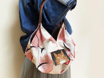 トラ猫気球バッグ(小)の画像