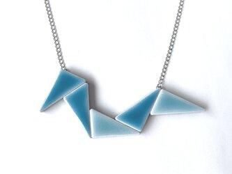三角タイルのネックレス(一点物)の画像