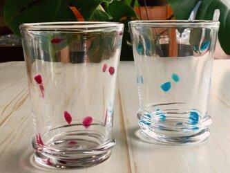 水玉コップ ペアグラス プレゼント ギフトにの画像