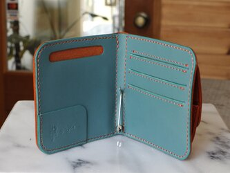 マネークリップの折財布B No.4 ブッテーロの画像