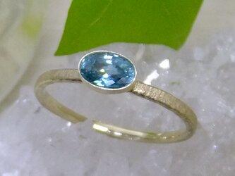 ブルージルコン*K10 ringの画像