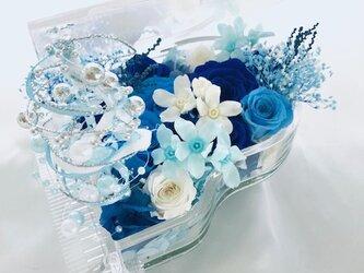 【プリザーブドフラワー/グランドピアノシリーズ】青とブルーと小花の透明感のある音色の画像