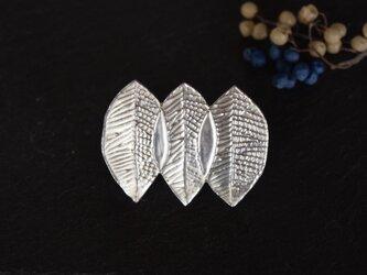 ブローチ(銀彩) 木の葉-3の画像