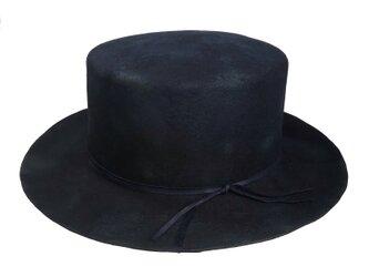 Burned navy bolero hatの画像