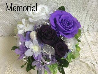 お供えプリザ いつまでも 紫一花の画像