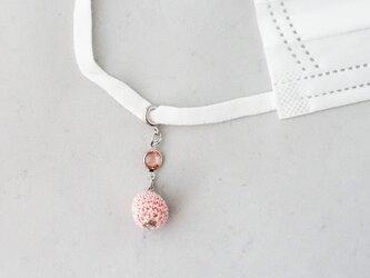 bonbonマスクチャーム|スワロフスキーと一斤(薄いピンク色)bonbonの一連の画像