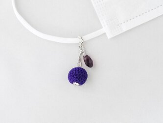 bonbonマスクチャーム|スワロフスキーと紫色bonbonの二連の画像