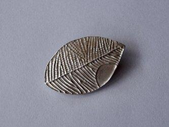 ブローチ(銀彩) 木の葉-1の画像