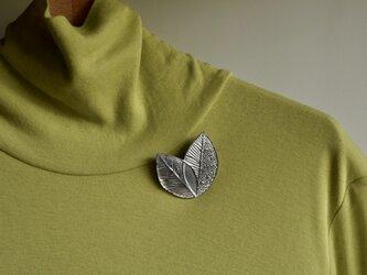 ブローチ(銀彩) 木の葉-2の画像