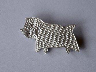 ブローチ(銀彩) ネコ-1の画像