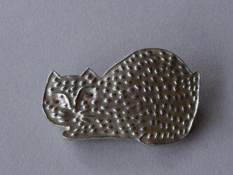 ブローチ(銀彩) ネコ-9の画像