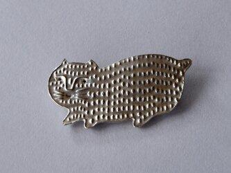 ブローチ(銀彩) ネコ-6の画像