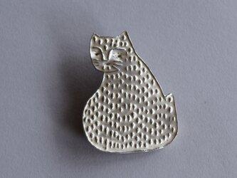 ブローチ(銀彩) ネコ-11の画像