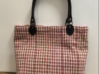 手織りトートバッグ の画像